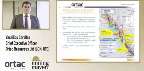 Vassilios Carellas CEO Ortac Resources (LON:OTC) at The Cote 3rd November 2016